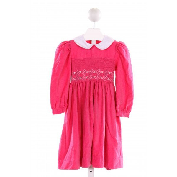 SIMI BABY  PINK CORDUROY  SMOCKED DRESS WITH RUFFLE