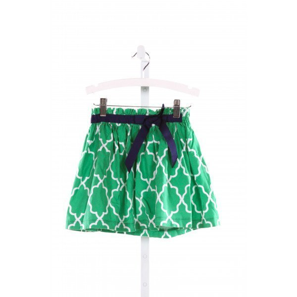 LAWRENCE & LILLIAN  GREEN   PRINTED DESIGN SKIRT WITH RUFFLE