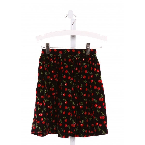 GLORIMONT  MULTI-COLOR CORDUROY  PRINTED DESIGN SKIRT