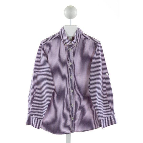 JACADI  LT PINK  STRIPED  CLOTH LS SHIRT