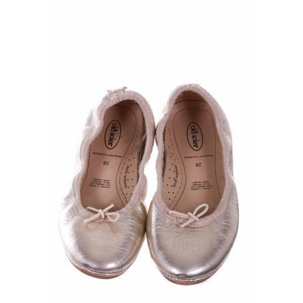 OLD SOLES GOLD BALLET FLAT *SIZE 11 (EU 28) *VGU (SMALL SCUFF ON TOE)