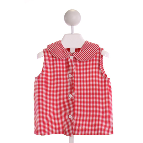 RAGSLAND  RED  GINGHAM  CLOTH SS SHIRT