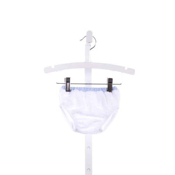 THE BEAUFORT BONNET COMPANY  WHITE TERRY CLOTH   DIAPER COVER