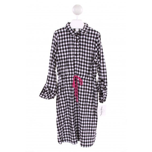 MAGGIE BREEN  BLACK  GINGHAM  DRESS