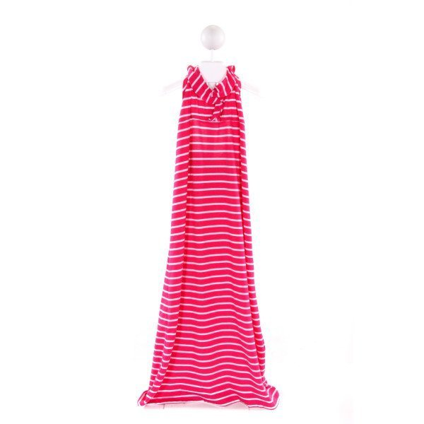 FLORENCE EISEMAN  HOT PINK  STRIPED  KNIT DRESS