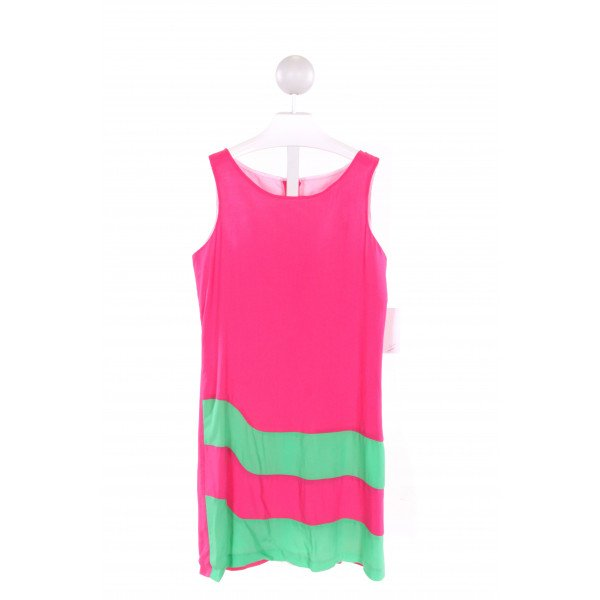 MAGGIE BREEN  HOT PINK  STRIPED  DRESS