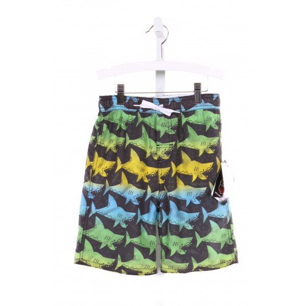 WES AND WILLY  MULTI-COLOR   PRINTED DESIGN SWIM TRUNKS
