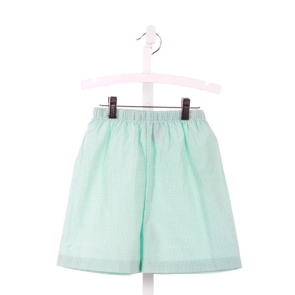 SHRIMP & GRITS  MINT  GINGHAM  SHORTS
