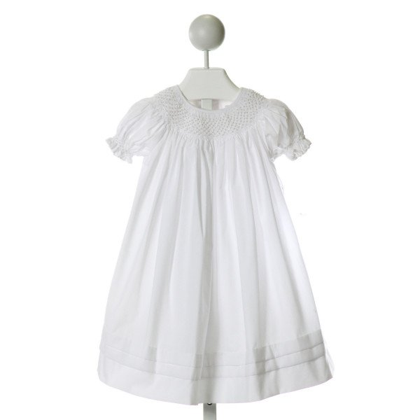 ROYAL CHILD  OFF-WHITE   SMOCKED DRESS WITH RUFFLE