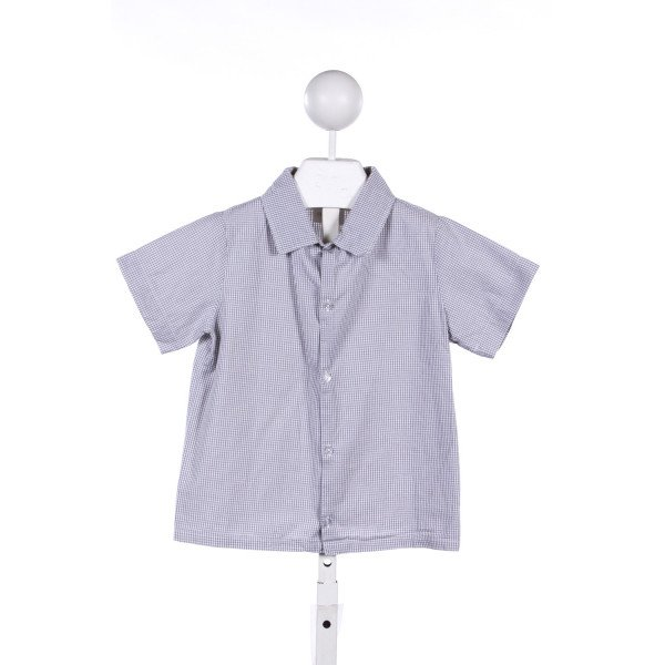 HOLLYWOOD BABY GRAY GINGHAM TOP *NO SIZE TAG RUNS LIKE A SIZE 6