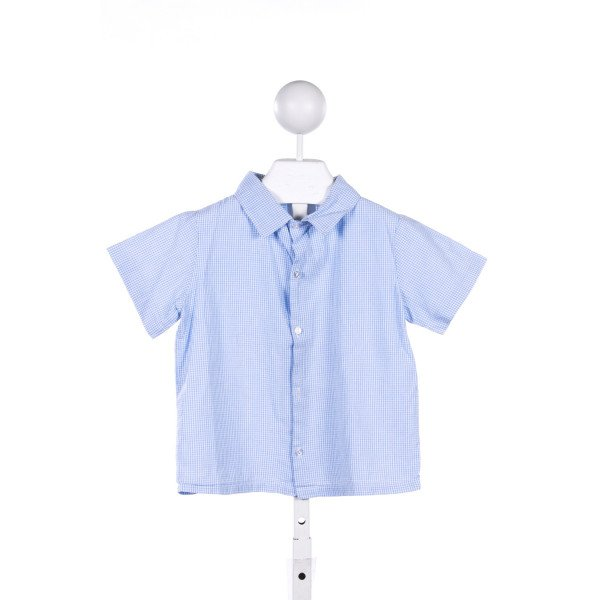 HOLLYWOOD BABY BLUE GINGHAM TOP