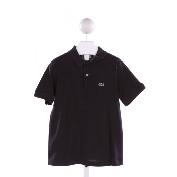 LACOSTE  NAVY    KNIT SS SHIRT