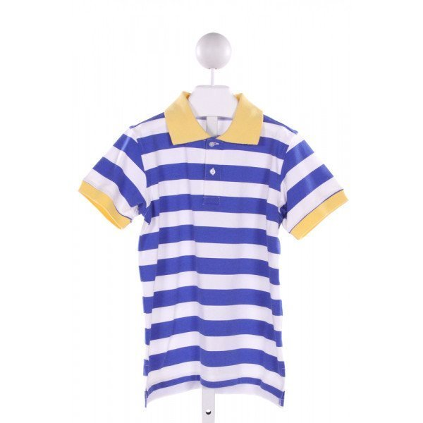 KELLY'S KIDS  BLUE  STRIPED  KNIT SS SHIRT