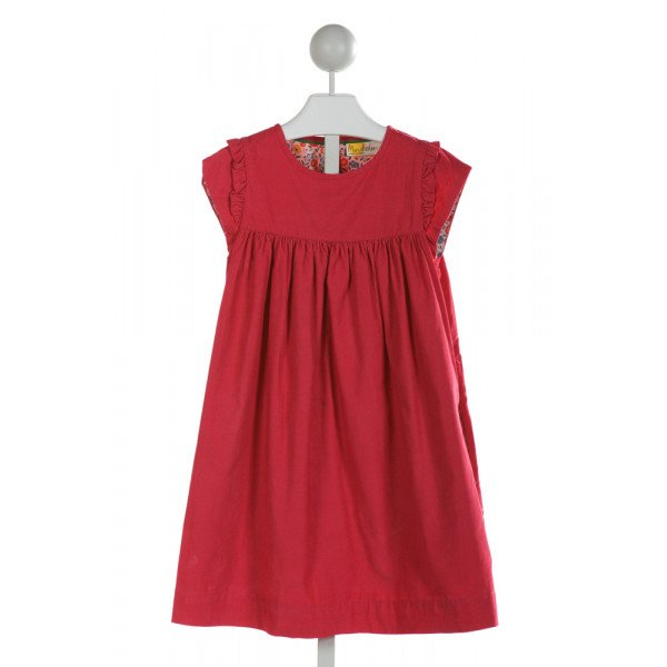 MINI BODEN  HOT PINK CORDUROY   DRESS WITH RUFFLE