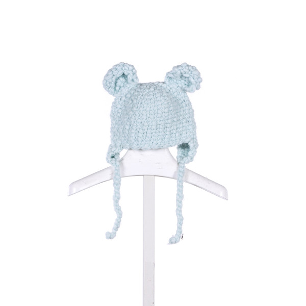 ZUBELS BLUE KNIT HAT WITH EARS