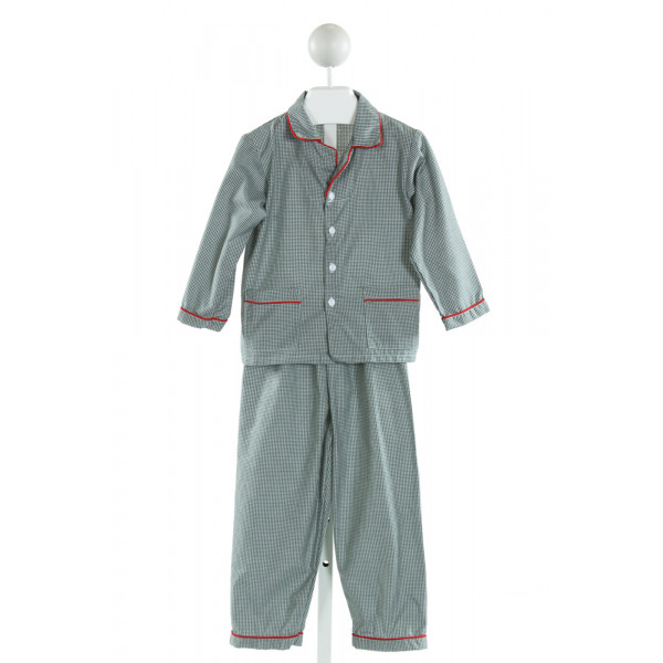 SWEET DREAMS  GREEN  GINGHAM  LOUNGEWEAR