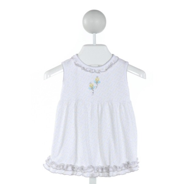 MAGNOLIA BABY  WHITE  PRINT EMBROIDERED KNIT DRESS