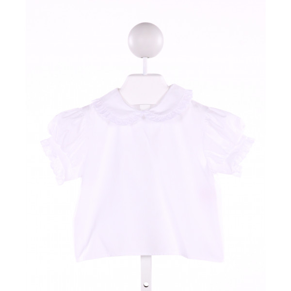 CHOCOLATE SOUP  WHITE    CLOTH SS SHIRT WITH EYELET TRIM