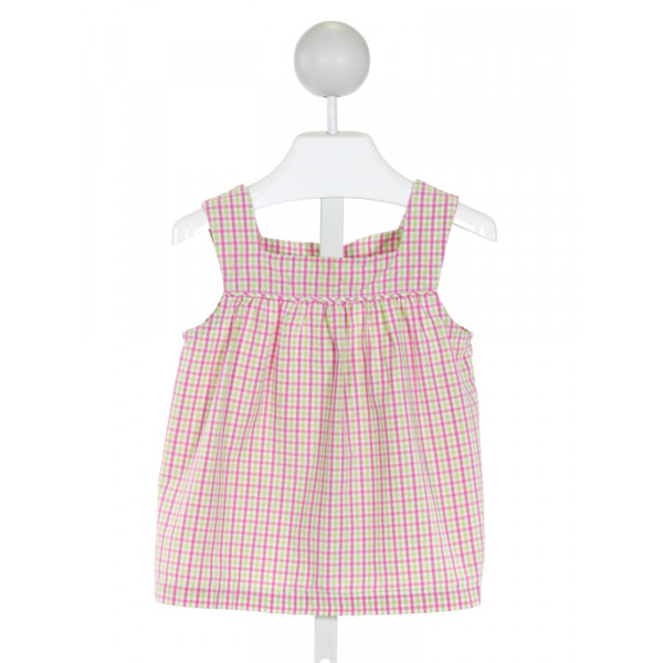 KATE & LIBBY  PINK  PLAID  CLOTH SS SHIRT
