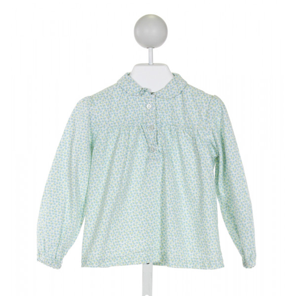 KATE & LIBBY  LT BLUE  FLORAL  CLOTH LS SHIRT