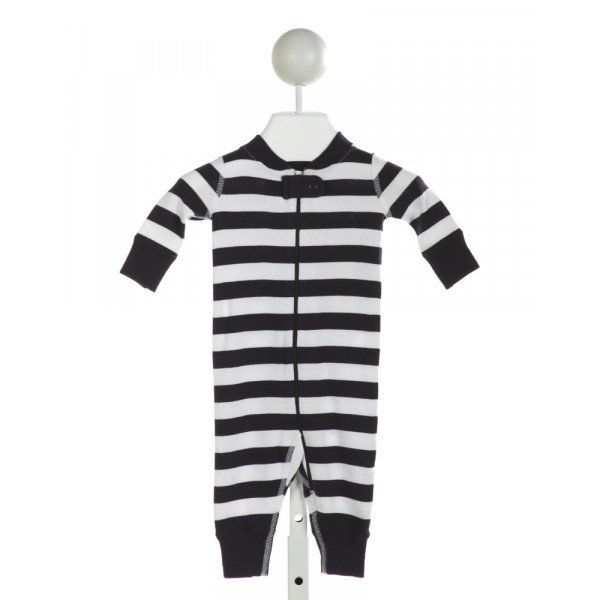 HANNA ANDERSSON  NAVY  STRIPED  KNIT ROMPER