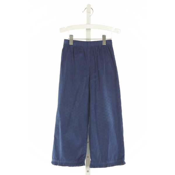 LITTLE ENGLISH  BLUE CORDUROY   PANTS WITH RUFFLE