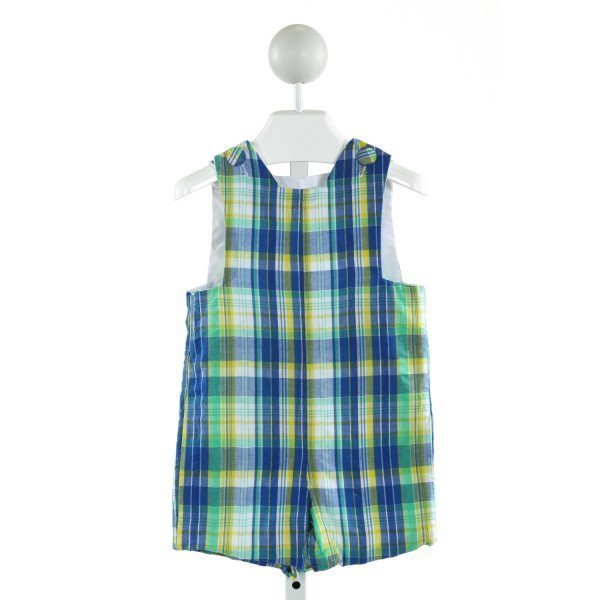 LAWRENCE & LILLIAN  BLUE  PLAID  JOHN JOHN/ SHORTALL