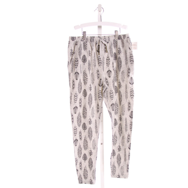 TEA  GRAY   PRINTED DESIGN PANTS