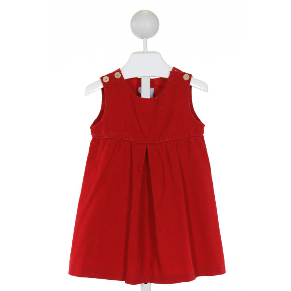 LITTLE ENGLISH  RED CORDUROY   DRESS