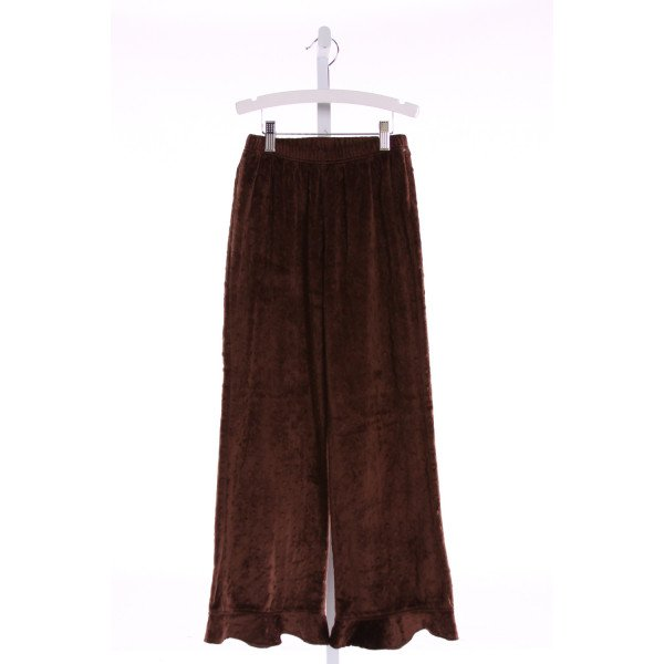 CHEZ AMI  BROWN MINKY DOT   PANTS WITH RUFFLE