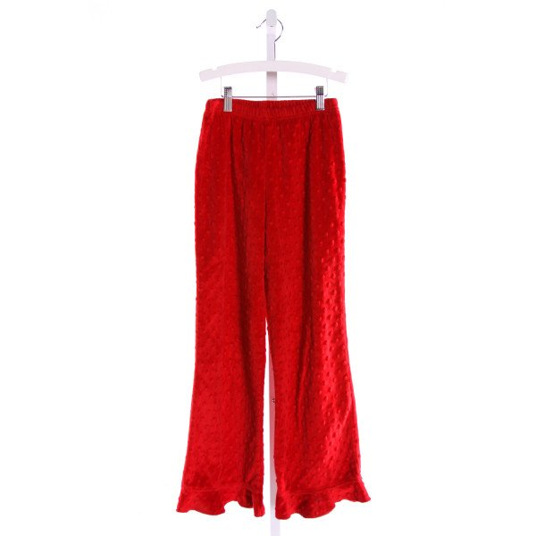 CHEZ AMI  RED MINKY DOT   PANTS WITH RUFFLE