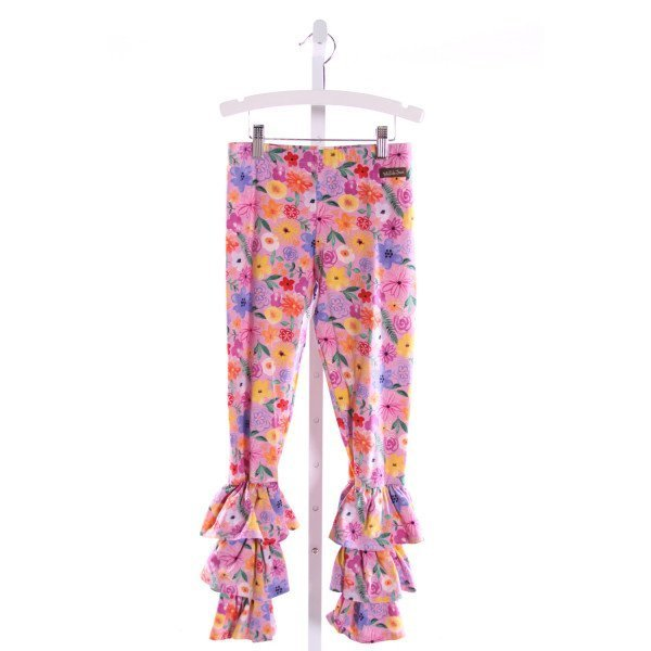 MATILDA JANE  MULTI-COLOR  FLORAL  PANTS WITH RUFFLE