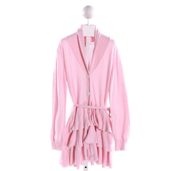 MATILDA JANE  LT PINK    OUTERWEAR WITH RUFFLE