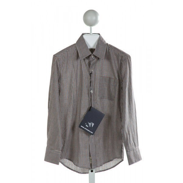APPAMAN  MULTI-COLOR  GINGHAM  CLOTH LS SHIRT