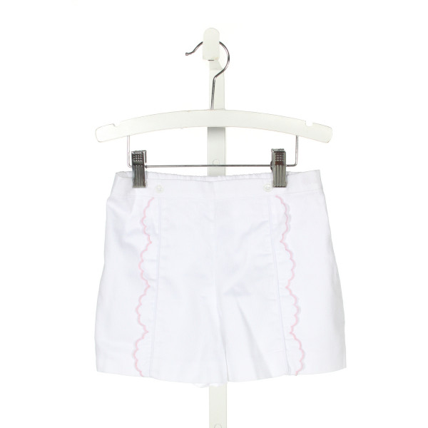 ALICE KATHLEEN  WHITE   EMBROIDERED SHORTS