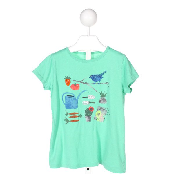 CREWCUTS  GREEN  PRINT APPLIQUED T-SHIRT