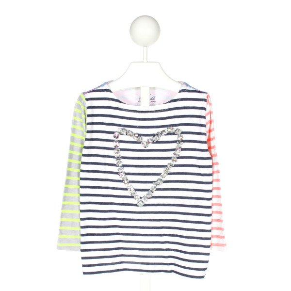 CREWCUTS  MULTI-COLOR  STRIPED APPLIQUED KNIT LS SHIRT