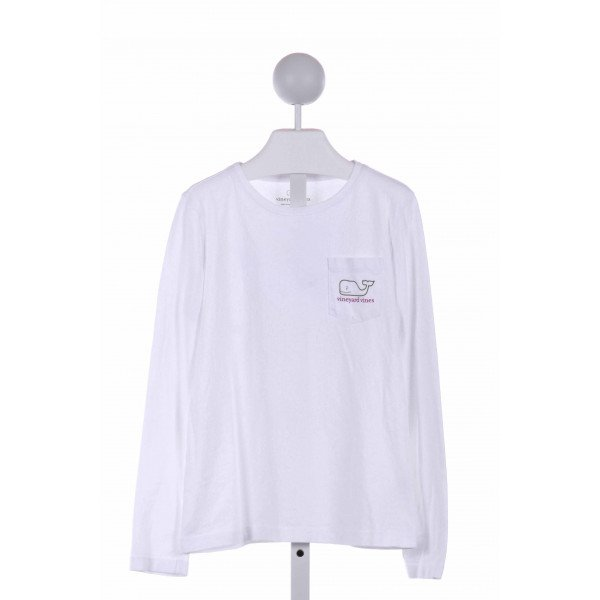 VINEYARD VINES  WHITE    KNIT LS SHIRT