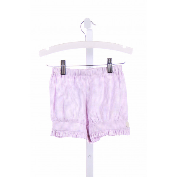 BLUE BUMBLEBEE  PURPLE  GINGHAM  SHORTS WITH RUFFLE