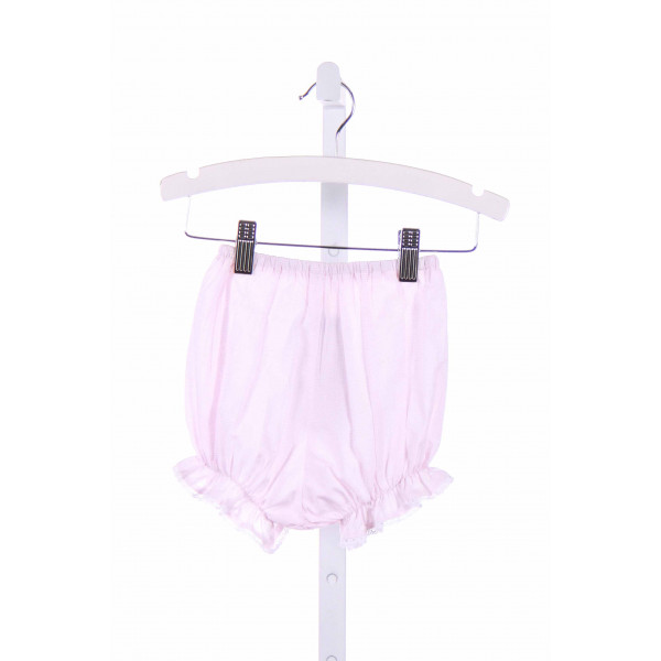 BLUE BUMBLEBEE  PINK  MICROCHECK  BLOOMER WITH EYELET TRIM