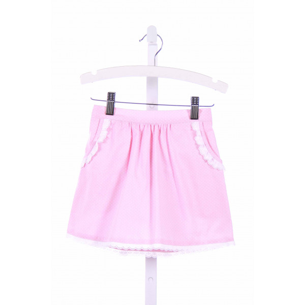 BLUE BUMBLEBEE  PINK  POLKA DOT  SKIRT WITH EYELET TRIM