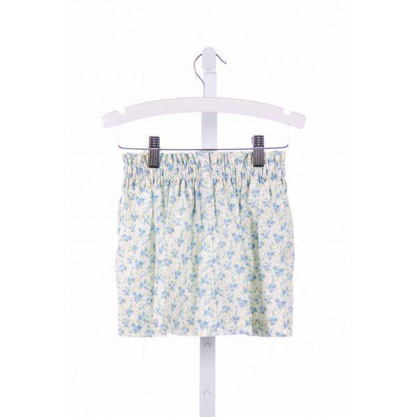 BLUE BUMBLEBEE  BLUE  FLORAL  SKIRT