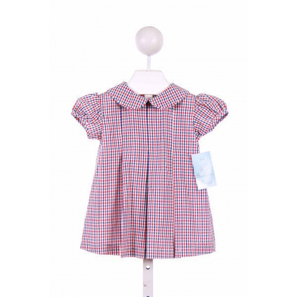 BLUE BUMBLEBEE  RED  PLAID  CASUAL DRESS