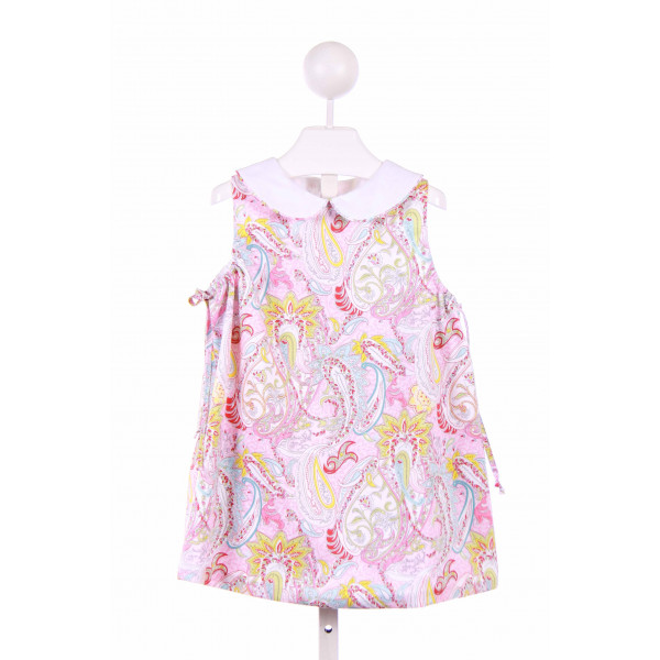 BLUE BUMBLEBEE  PINK  PRINT  CASUAL DRESS