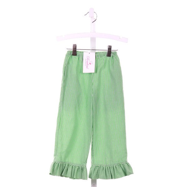 ROSALINA  GREEN  GINGHAM  PANTS