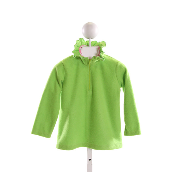 CASTLES & CROWNS  LT GREEN    QUARTER ZIP PULLOVER WITH RUFFLE