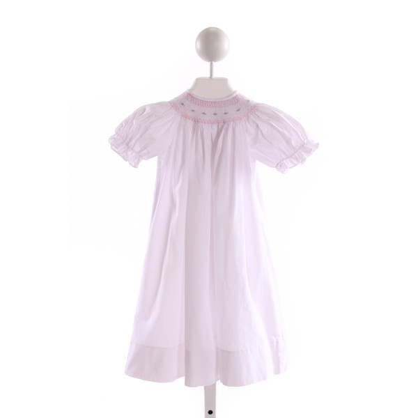SWEET ANGELA  LT PINK   SMOCKED DRESS WITH RUFFLE