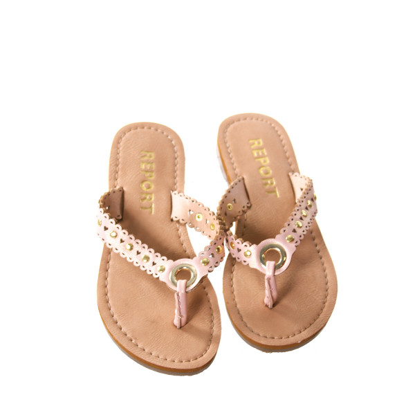 REPORT PINK AND BROWN SANDALS *APPROX SIZE 10, EUC