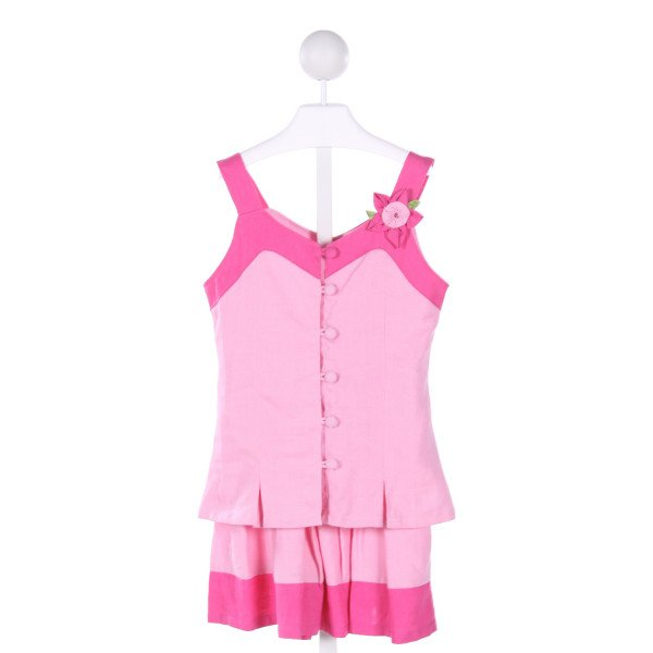 WILLOUGHBY  PINK   APPLIQUED 2-PIECE OUTFIT