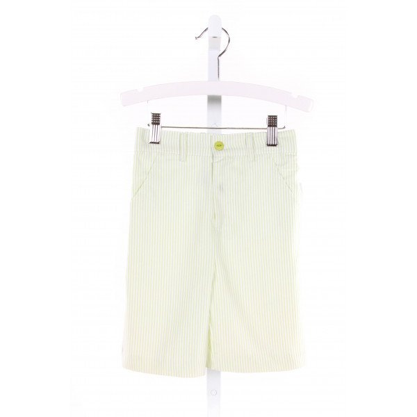 GLORIMONT  LIME GREEN  STRIPED  SHORTS